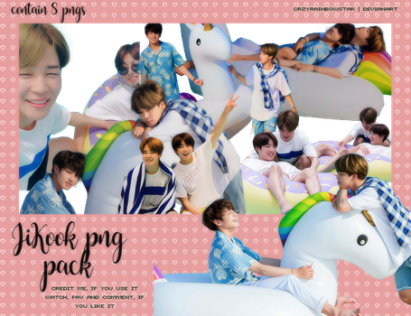 Jikook-summerpackage-renderpack by CrzyRainbowStar