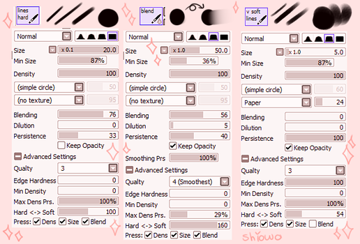 Paint Tool SAI Brushes | Outdated by shiowo