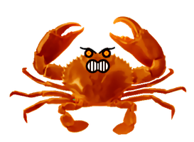 Angry Crab by LukeLlenroc