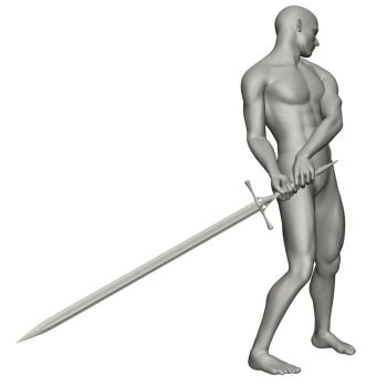 Male Sword Reference 3 by posevault