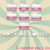 Carpetas Pink and White by Jonatica-andi