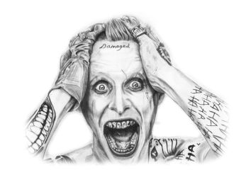 Jared Joker Pencil Drawing by BoardsDrawingBoard