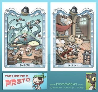 Pirate Post Cards by MonkeySeed