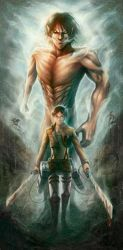 Attack On Titan fanart by ls2-TheBloodOfPeace