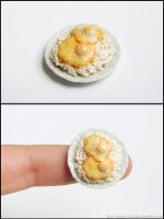 Miniature Fried Eggs Over Rice (Gift) by PepperTreeArt