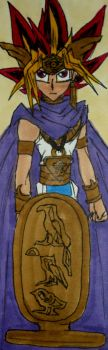 The Pharaoh with No Name Bookmark by InkArtWriter