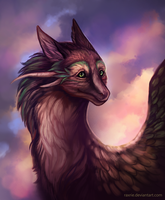 Fluffy dragon by Raxrie