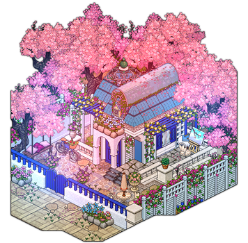 Blue and white house by Cutiezor