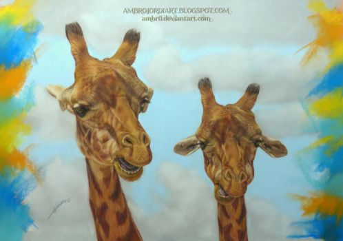 Giraffes by AmBr0