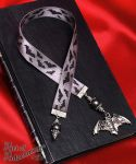 Vampire Bat Satin Ribbon Bookmark by ArtOfAdornment
