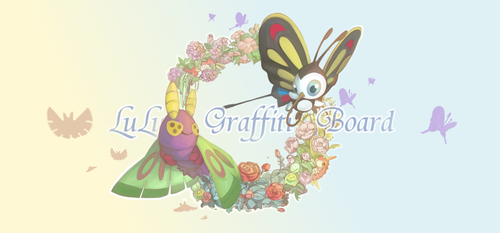 Dustox and Beautifly by LuluGraffitiBoard