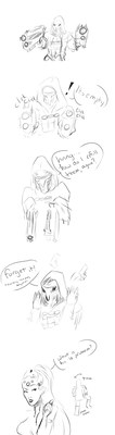 [Overwatch comic] Reaper's Guns by CeloTheImpossible
