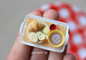 Miniature Food - Breakfast Tray Orange by PetitPlat