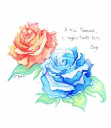 Watercolor roses by Or003