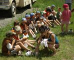 Scouts at the fishing derby by Heidi-Koehler
