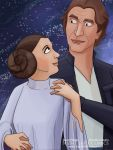 Han And Leia small by TwoHorizonsArt