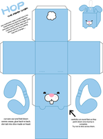 hop the bunny paper craft by armadilloboy