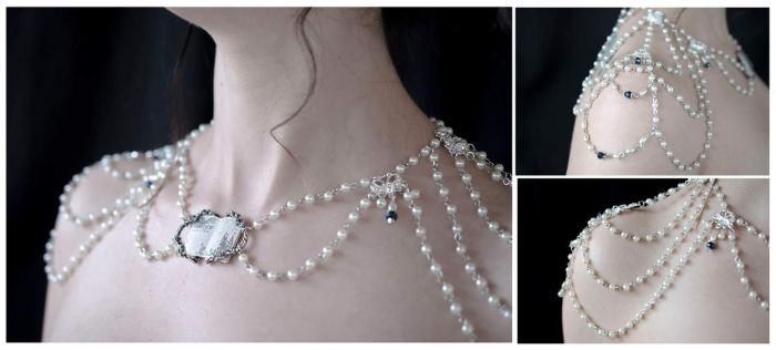 Elegant Draping Bridal Necklace by NikidaEve