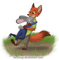 Nick and Judy Hug by Fecu