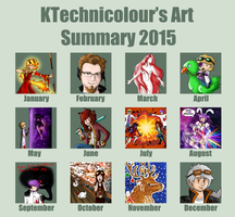 2015 Art Summary by KTechnicolour