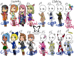 Adoptables[READ des.] and Clothes[Read des.] by xXSweet-MiwakoXx