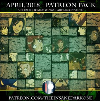 Patreon April 2018 art pack now available! by TheInsaneDarkOne