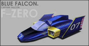 The Blue Falcon by animeninjaz