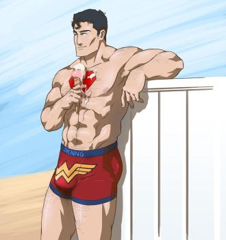 Superman National Ice Cream Day by sknng
