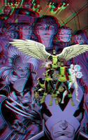 X-Men Battle of the Atom in 3D Anaglyph by xmancyclops