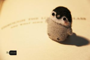 Needlefelted Penguin (forsale)2 by FluffyParcel