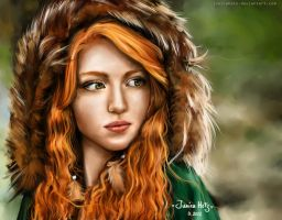 Redhead girl by Junica-Hots