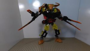 Bionicle Transformer Lava Cutter (Combined mode) by sideshowOfMadness
