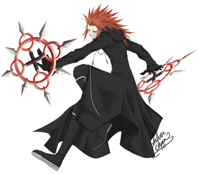 EPIC AXEL POSE by LightSilverstar