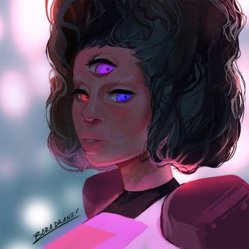 Garnets Gaze by BoraDraws
