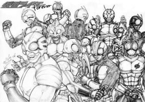 kamen rider forever by MikeNick