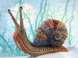 Ornamental Giant Snail by nicsadika