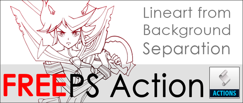 Lineart Separation Action for Photoshop by RaelV