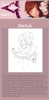 Drawing Tutorial [Part I: Sketch and Lineart] by TheHumanHeart
