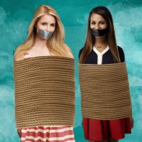 Dianna Agron and Lea Michele Bound and Gagged by Goldy0123