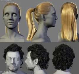 Male and Female Hairstyles by Woodys3d