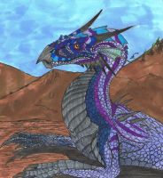 Azure Mountain Wyrm by Son-of-Italy