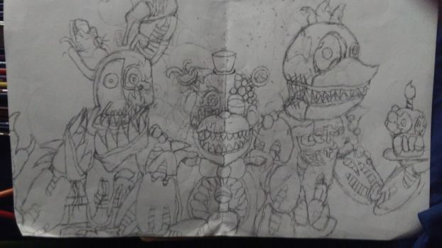 fnaf the dark ones - foxy uncolor by Th3Tur3GodMrbl3ach