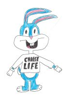 Buster Bunny wearing a CHOOSE LIFE T-shirt by dth1971