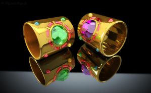 Sailor Galaxia Bracelets / Armreifen 3D 01 by digitalAuge