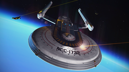 U.S.S. John Muir among the Cardassians by GingerSwitch