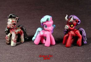 My Demon Pony mini comparison by Undead-Art
