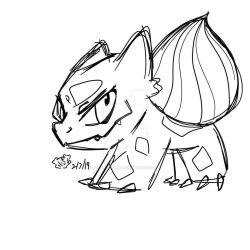 Bulbasaur Sketch  by TigerofHyrule