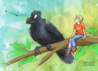 Sitting on a branch... Oh Yeah by TinyFeatherpants