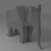 Elephant Render by watakach