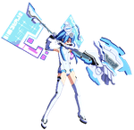 Sprite: White Heart Fighting Stance by excahm